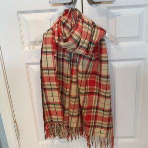 J. Crew flannel plaid scarf